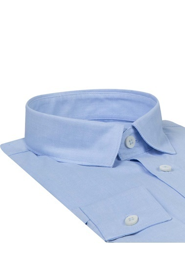 Tween Slim Fit Düz Gömlek Mavi